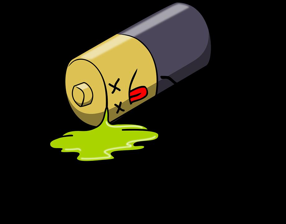乾電池の液もれ正しい処理方法!素手で触ったら人体に害あり?